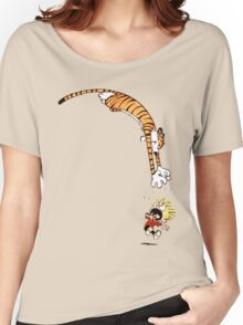calvin and hobbes hungry Women's Relaxed Fit T-Shirt