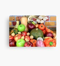 Vegetables and Fruits. Canvas Print