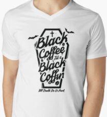 Black Coffee Till A Black Coffin  Men's V-Neck T-Shirt