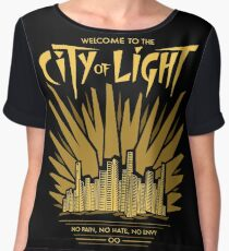 Welcome to the City of Light Women's Chiffon Top