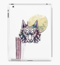 Geometric Watercolor Wolf with Triforce iPad Case/Skin