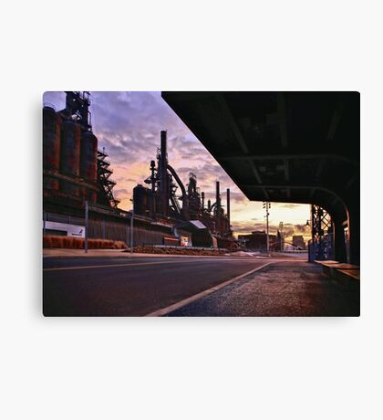 Waitin' On The Bus Canvas Print