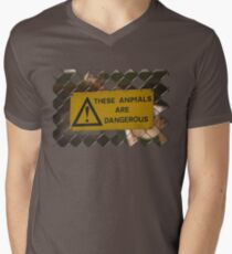 Dangerous! Men's V-Neck T-Shirt