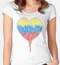 A PEACE OF MY BLEEDING HEART Women's Fitted Scoop T-Shirt