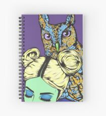 Girl with Owl Spiral Notebook
