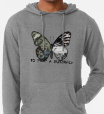 Sudadera con capucha ligera Marcar una mariposa