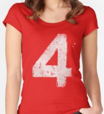 Up In Fl4mes Women's Fitted Scoop T-Shirt