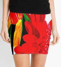Red Gerber Daisy Mini Skirt