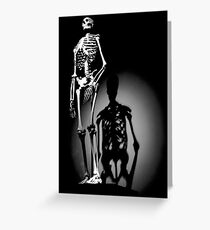 human anatomy t-shirt, human skeleton Greeting Card