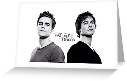 The Vampire Diaries Salvatore Brothers Greeting Cards By Katie358