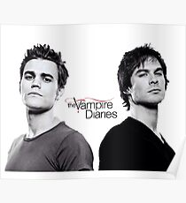 The vampire diaries Salvatore Brothers  Poster