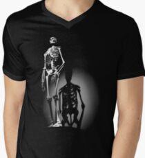 human anatomy t-shirt, human skeleton Men's V-Neck T-Shirt