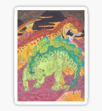 Allosaurus vs Stegosaurus Sticker