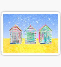 Beach Huts Sticker