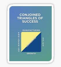 Conjoined Triangles of Success Sticker