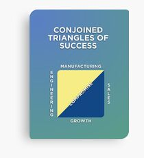 Conjoined Triangles of Success Canvas Print