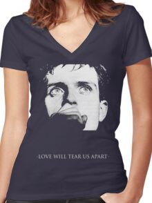 Ian Curtis - Love Will Tear Us Apart Women's Fitted V-Neck T-Shirt