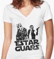 Estar Guars Women's Fitted V-Neck T-Shirt