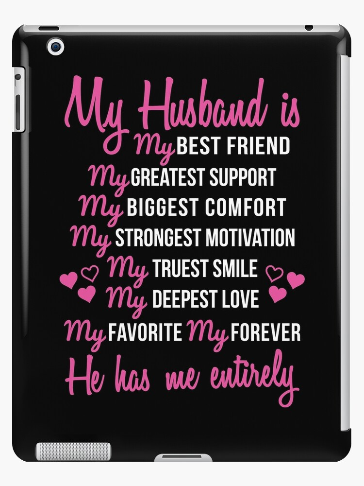 My Husband Is My Best Friend Wedding Anniversary Gift For Wife Ipad