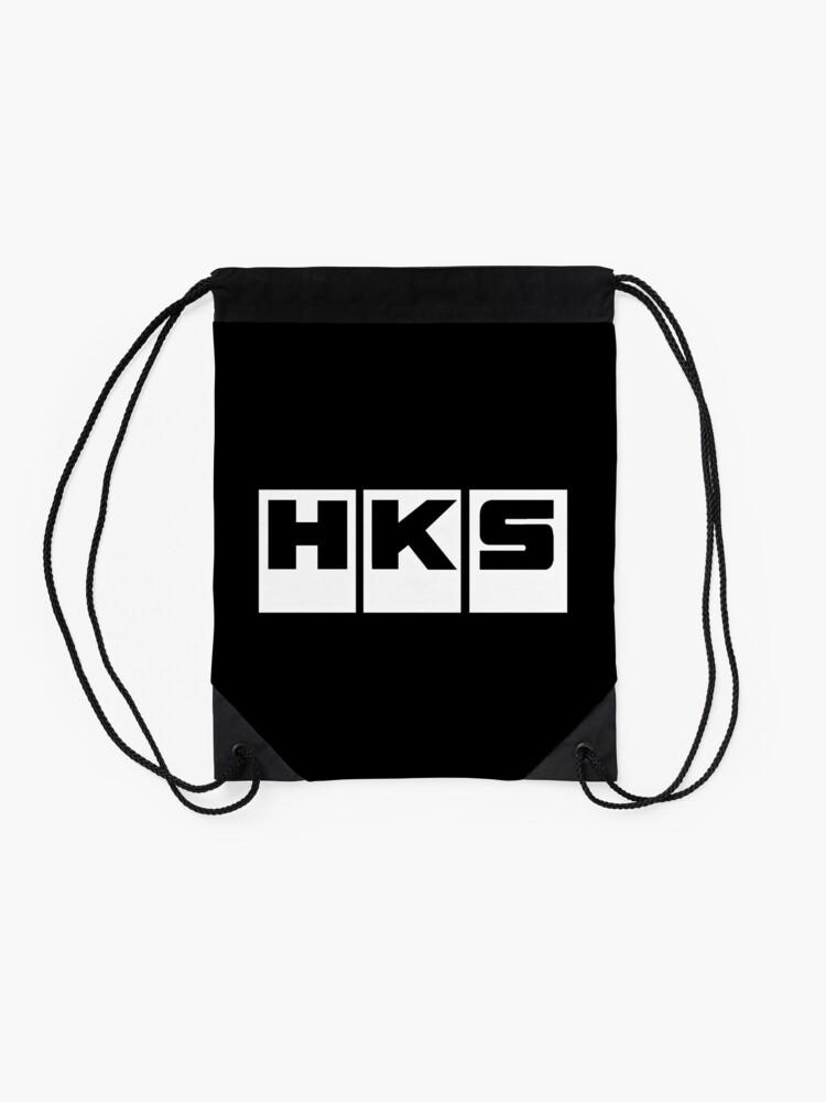 6e3d06bdc18a HKS Car Tuning White | Drawstring Bag