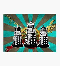 Doctor Who - Retro Daleks Photographic Print