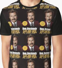 Let me off at the top! by Ron Burgundy  Graphic T-Shirt