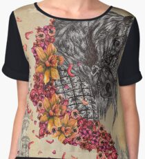Medieval Armour Horse Design Women's Chiffon Top