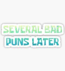 Bad Puns Sticker