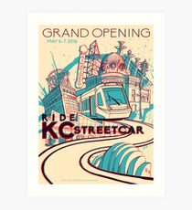Exclusive EVENT VERSION - KC Streetcar Grand Opening Commemorative Poster Art Print