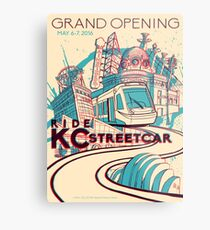Exclusive EVENT VERSION - KC Streetcar Grand Opening Commemorative Poster Metal Print