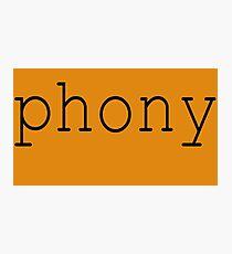 Phony Photographic Print