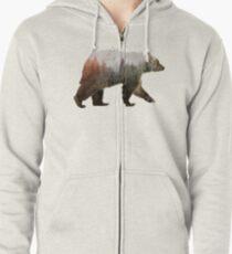 Bear Zipped Hoodie