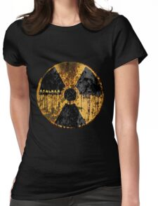 Stalker Radiation Symbol Womens Fitted T-Shirt