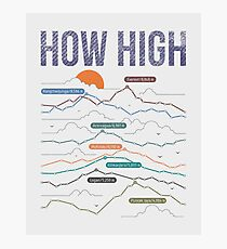 how high Photographic Print