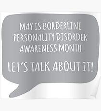BPD Awareness - Grey Poster