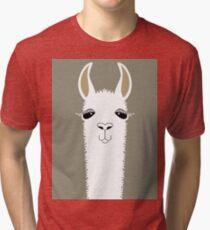 LLAMA PORTRAIT #1 Tri-blend T-Shirt