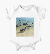 Black Swans One Piece - Short Sleeve