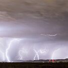 Lightning Thunderstorm Extreme Weather Over Golden Colorado by Bo Insogna
