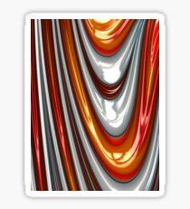 Orange Drip Sticker