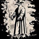 Doc beak - Plague doctor - bleached white by Bela-Manson