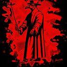 Doc beak - Plague doctor - bleached red by Bela-Manson