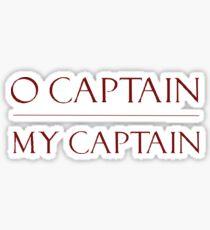 o captain my captain- dps font Sticker