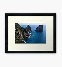 Limestone Cliffs and Seastacks - a Capri Island Vacation Framed Print