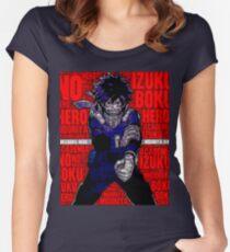 Izuku Midoriya - Boku no Hero Academia   My Hero Academia Women's Fitted Scoop T-Shirt