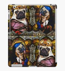 Stained Glass Pugs iPad Case/Skin