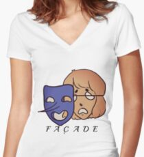 Façade Women's Fitted V-Neck T-Shirt