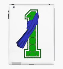 Turtle Shell Jersey Number - 1 iPad Case/Skin
