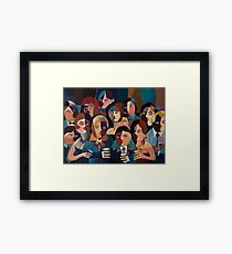 THE OFFICE PARTY Framed Print