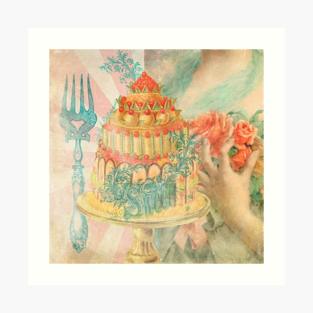 Let Them Eat Cake Art Print