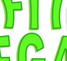 Fit Vegan Greens Text Sticker
